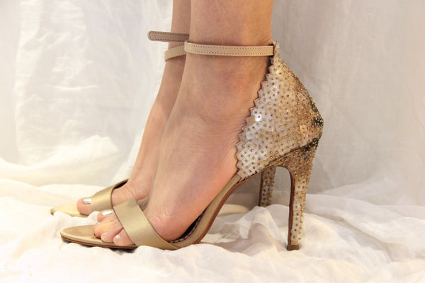 Broken Glass Stiletto- Old Gold