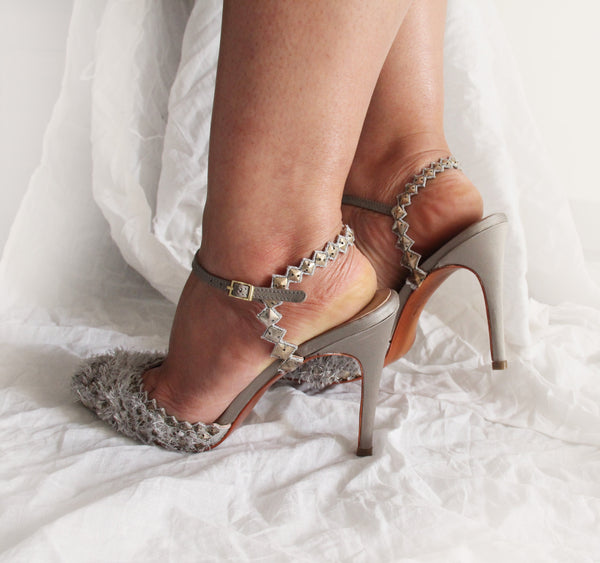 Grey Dragonscale Stiletto