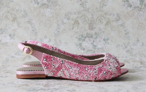soft pink sharmila sandals- 5mm flat