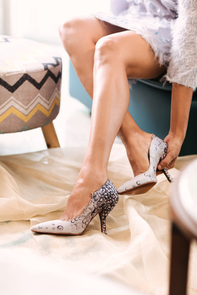 light grey tinkerbell pump
