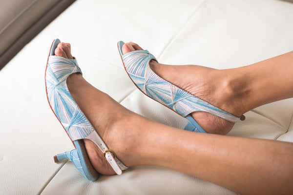 axis sandals- powder blue- 50H