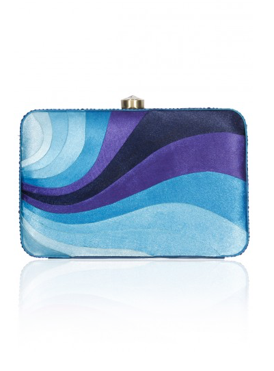 Blue Peace Wave Clutch