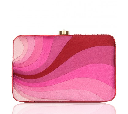 Pink & Marsala Peace Wave Clutch