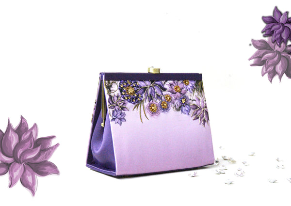 purple lotus clutch