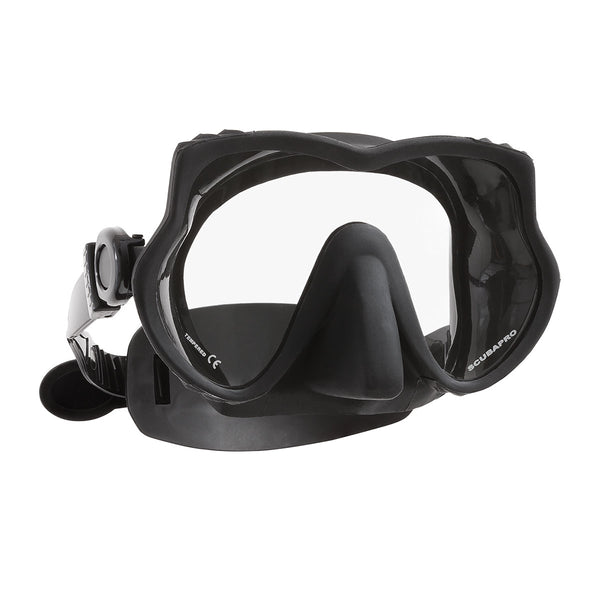 DEVIL DIVE MASK, W/EZ STRAP, BLACK
