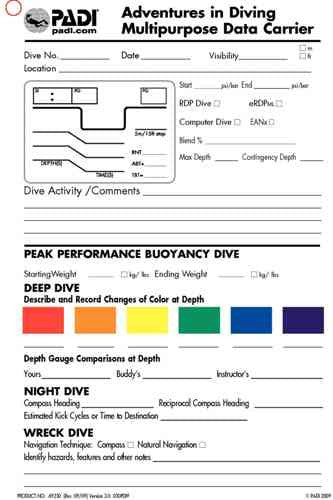 PADI Adventures In Diving Multi-Purpose Data Carrier Slate
