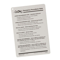 PADI Tec Emergency Procedures Slate