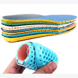 1pair Stretch Breathable Cushion Insoles Pad Insert 35-40 Adjustable