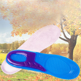 1 Pair Large Size Orthotic Arch Support Massaging Silicone Anti-Slip Gel