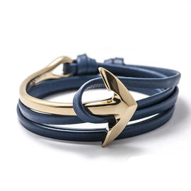 Leather Power Anchor Bracelets