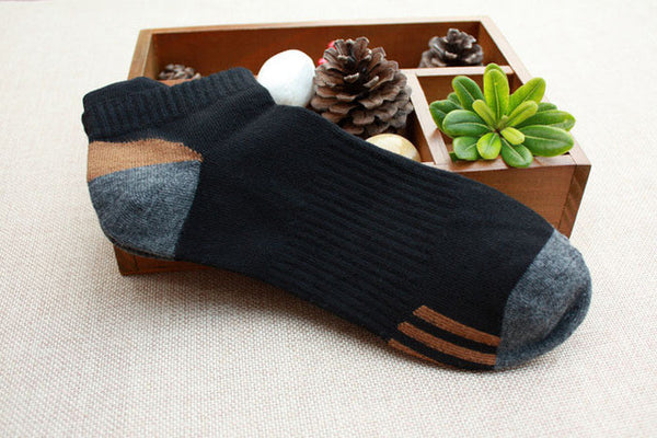 Breathable combed Cotton Casual Men ankle socks 5pairs/lot