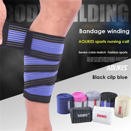 1PCS 90*7.5cm Elastic Bandage Leg Compression Calf Knee Support Strap