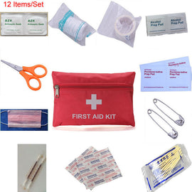 12 Set Emergency First Aid Kit Portable Outdoor Waterproof
