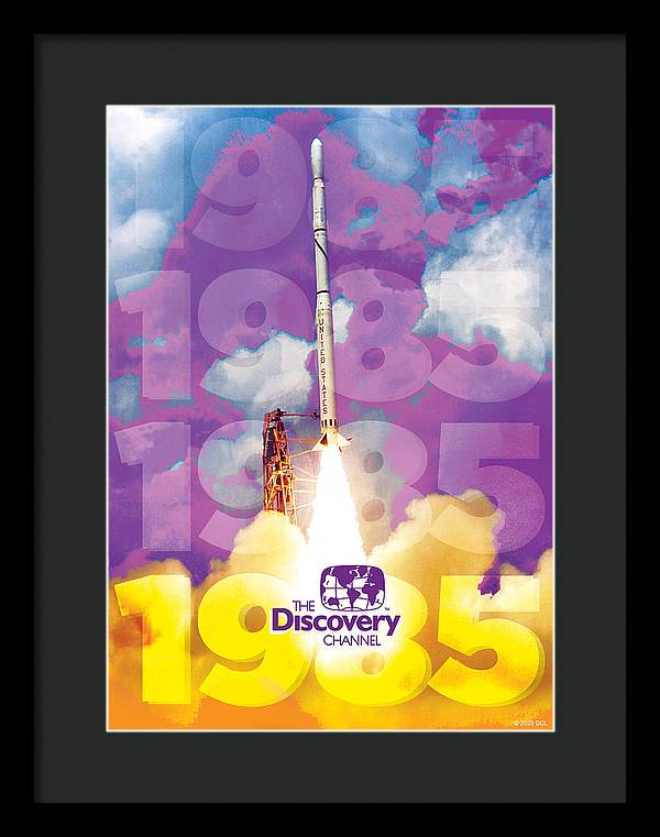 1985 Space Shuttle Launch - Framed Print