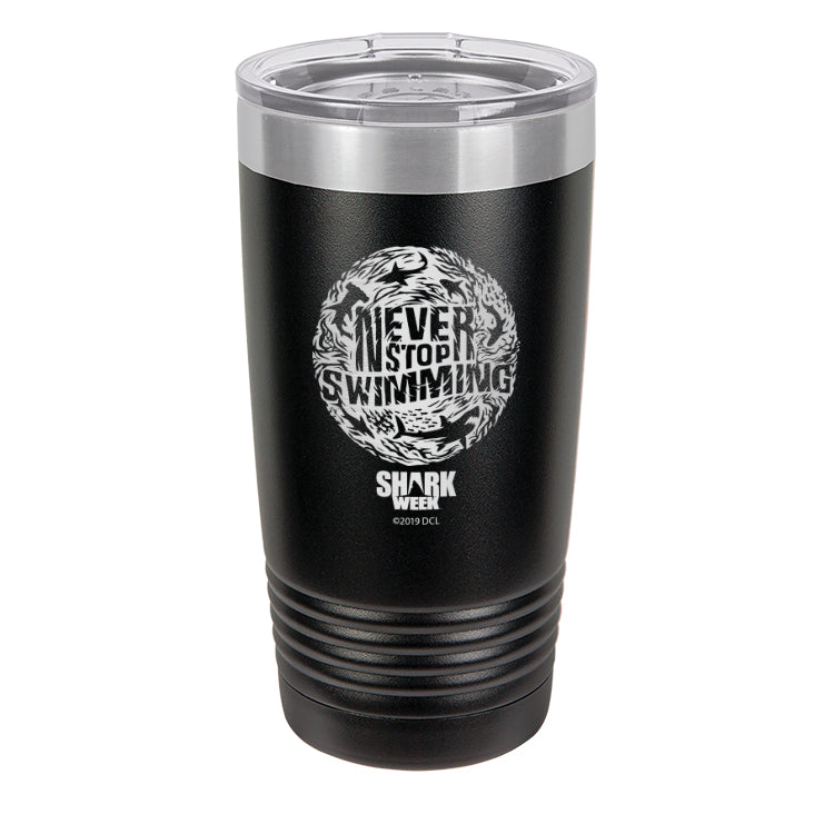 Never Stop Swimming Thumbprint Laser Etched Drinkware (1553283580003)
