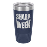 Great White Silhouette Laser Etched Drinkware