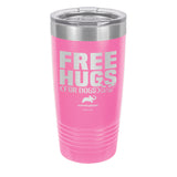 Free Hugs for Dogs Laser Etched Drinkware