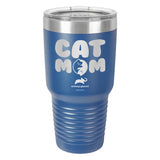 Cat Mom Laser Etched Drinkware