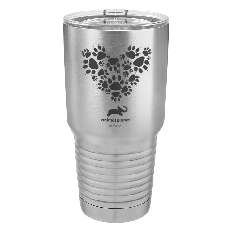 Paw Prints Heart Laser Etched Drinkware (3506492047459)