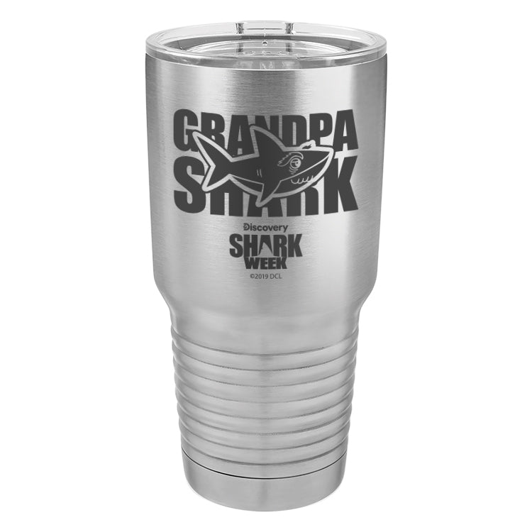 Grandpa Shark Laser Etched Drinkware (3512541610083)