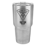 Never Stop Swimming Laser Etched Drinkware