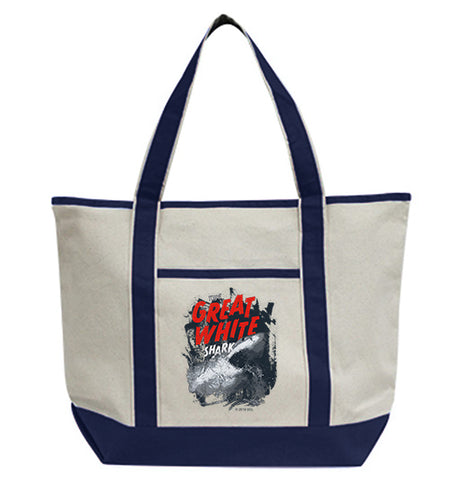 The Great White Shark Tote Bag