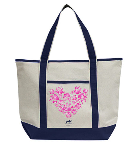 Paw Prints Heart Tote Bag
