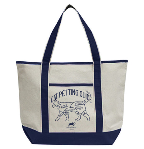 Cat Petting Guide Tote Bag