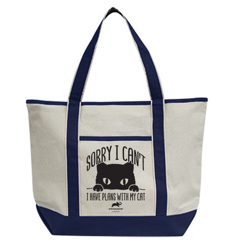 Sorry I Can't I Have Plans With My Cat Tote Bag
