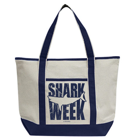 Great White Silhouette Tote Bag