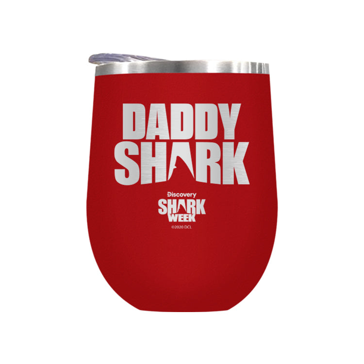 Daddy Shark Silhouette Laser Etched Drinkware