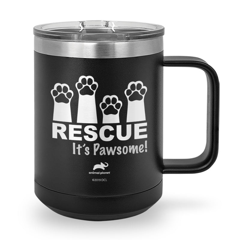 Rescue It's Pawsome Laser Etched Stainless Steel Coffee Mug