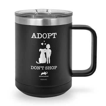Adopt, Don't Shop Laser Etched Coffee Mug