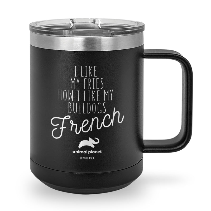 French Fries Laser Etched Stainless Steel Coffee Mug
