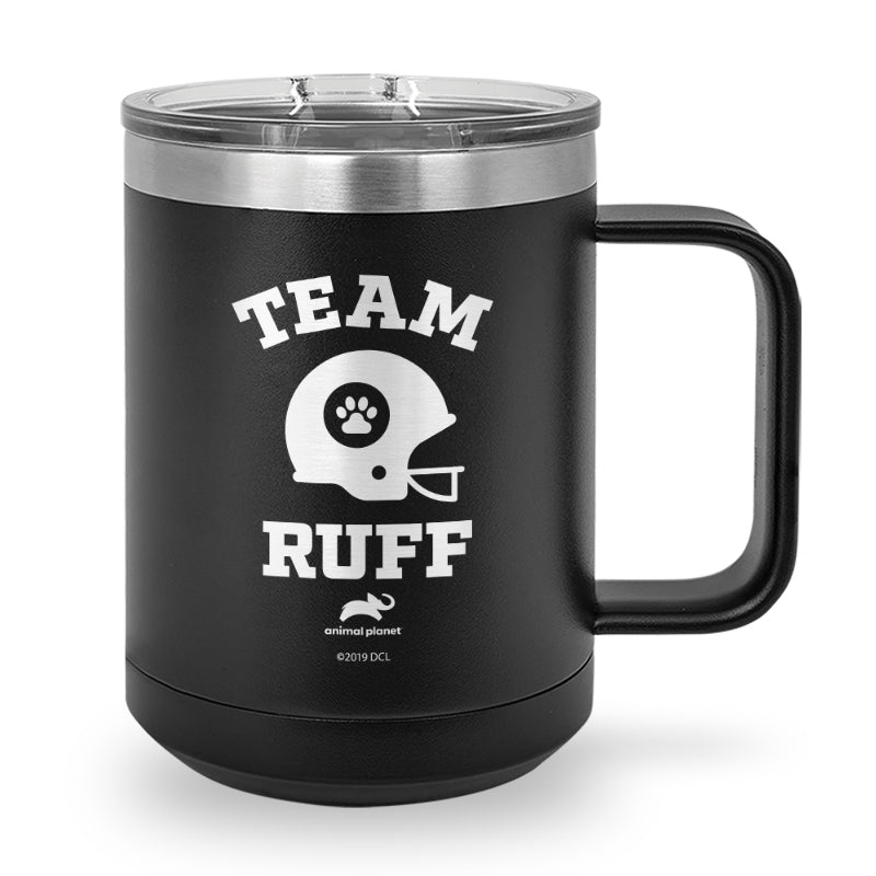Team Ruff Laser Etched Stainless Steel Coffee Mug