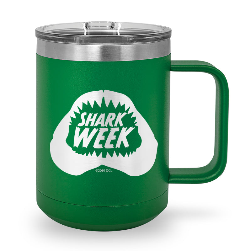 Shark Bite Laser Etched Stainless Steel Coffee Mug