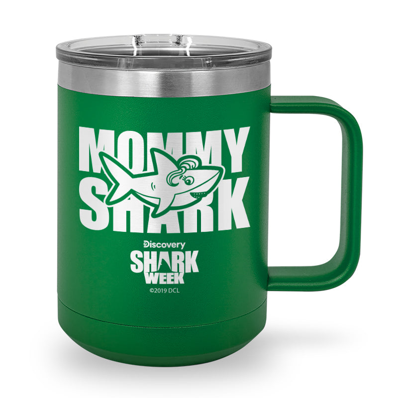 Mommy Shark Laser Etched Stainless Steel Coffee Mug