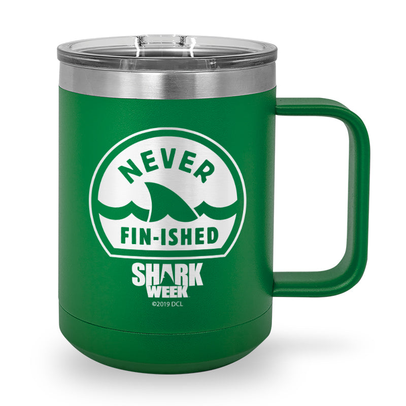 Never Fin-ished Laser Etched Stainless Steel Coffee Mug