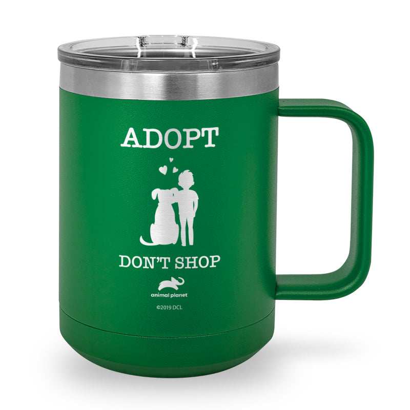 Adopt, Don't Shop Laser Etched Stainless Steel Coffee Mug