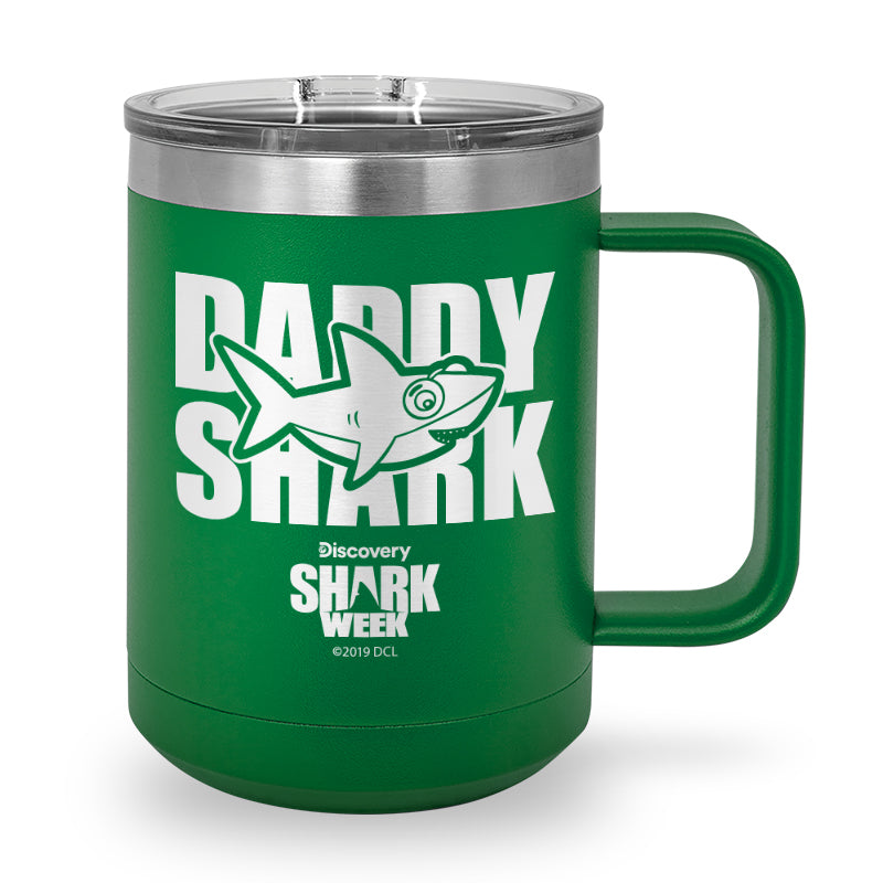 Daddy Shark Laser Etched Stainless Steel Coffee Mug