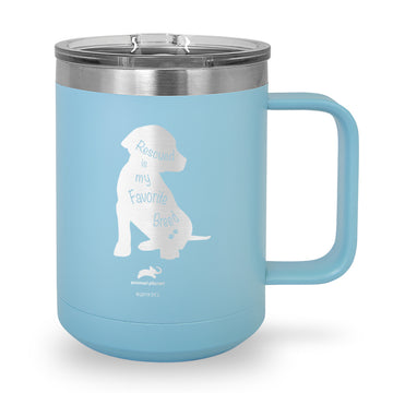 Rescued Is My Favorite Breed Laser Etched Stainless Steel Coffee Mug
