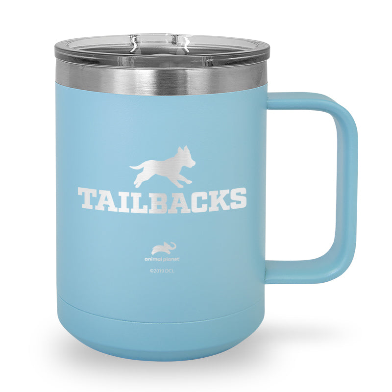 Tailbacks Laser Etched Stainless Steel Coffee Mug
