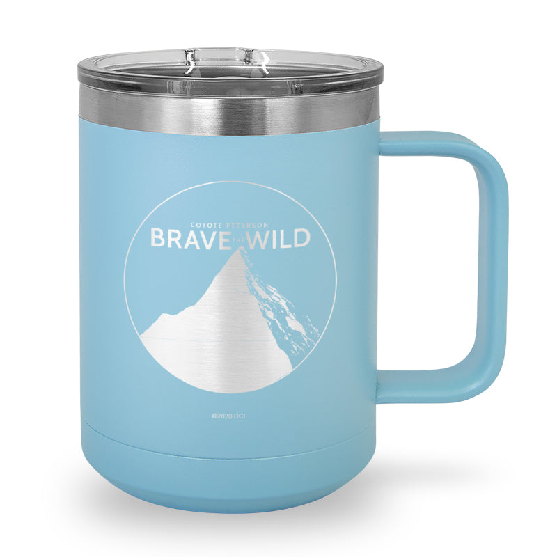 Brave the Wild Logo Laser Etched Stainless Steel Coffee Mug