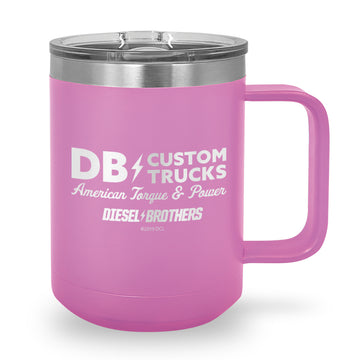 Custom Trucks Sign Laser Etched Coffee Mug