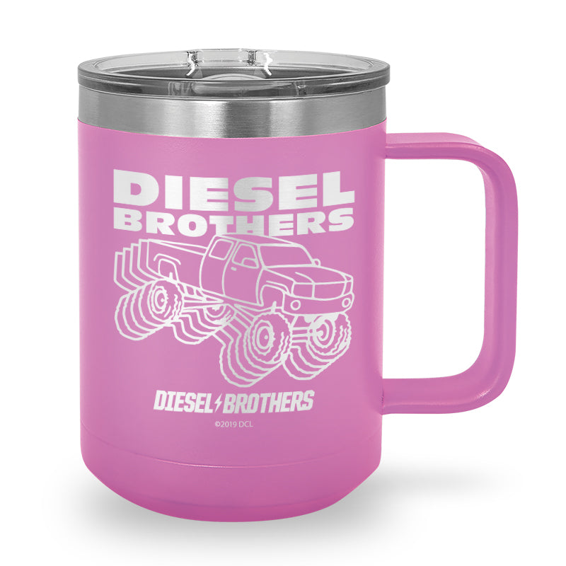 Retro Truck Laser Etched Stainless Steel Coffee Mug