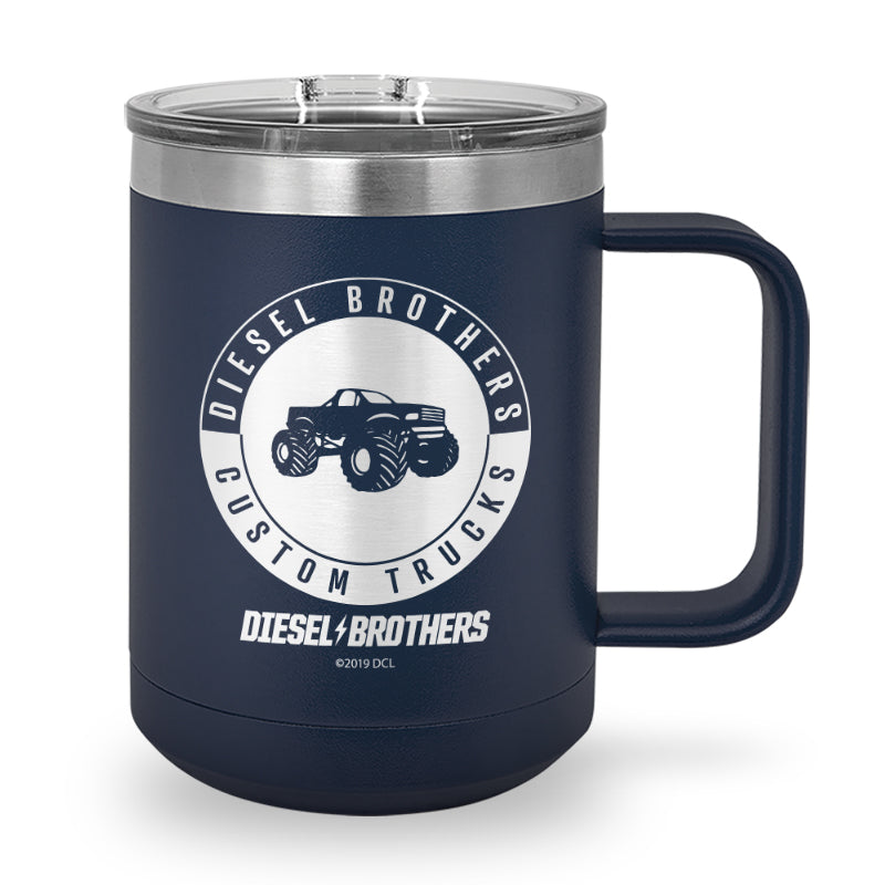 Custom Trucks Circle Laser Etched Stainless Steel Coffee Mug