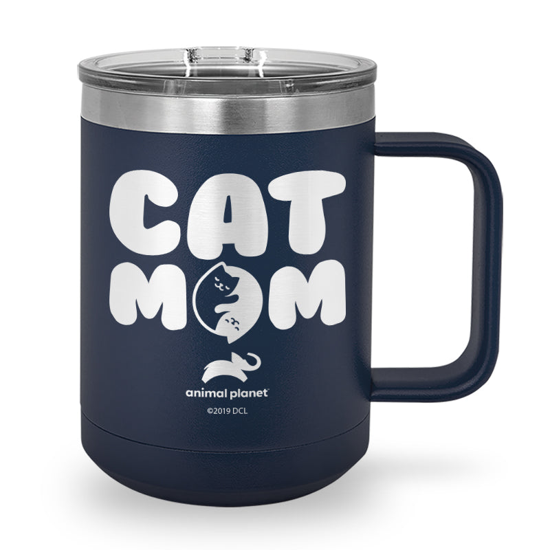 Cat Mom Laser Etched Stainless Steel Coffee Mug