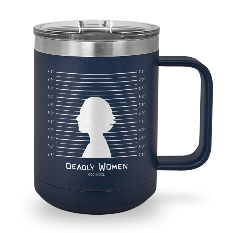 Line Up Laser Etched Stainless Steel Coffee Mug
