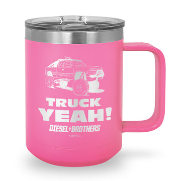 Truck Yeah Laser Etched Stainless Steel Coffee Mug