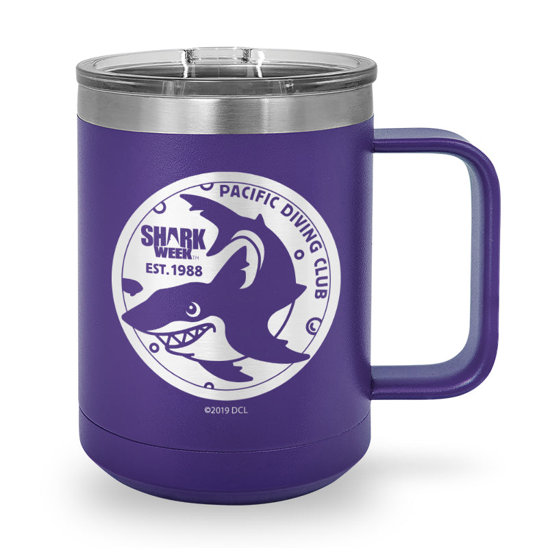 Pacific Diving Club Laser Etched Stainless Steel Coffee Mug